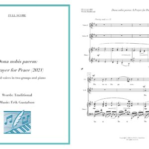 Dona Nobis Pacem full score preview