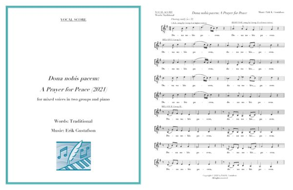 Dona nobis pacem vocal score preview